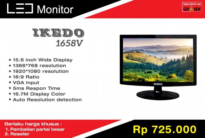 ikedo 1658v led monitor 15,6 inch murah grosir reseller partai besar semarang