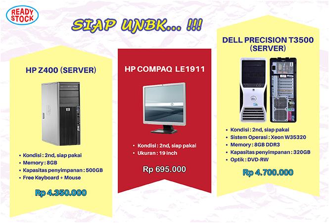 server dan monitor untuk unbk